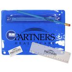 Custom Premium Translucent School Kit w/ Pencil, Ruler, Eraser & Sharpener