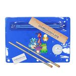 Premium Translucent School Kit w/ 2 Pencils, 6