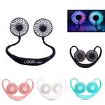 Portable Neck Fan Color Changing LED with Aromatherapy