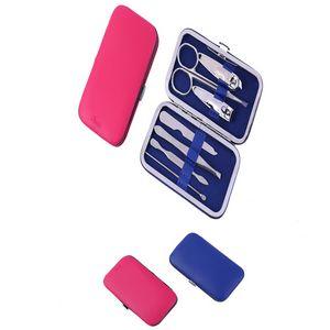 Custom PU Leather Case Manicure Set Nail clipper set