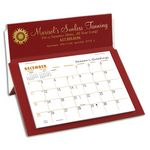 Custom 5 Rite-A-Dex Mini Memo Desk Calendar, Red/White