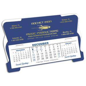 Custom 500 Retro Deskdate Desk Calendar, Lapis Blue/White