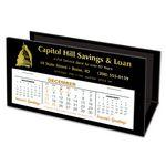 Custom VIP Deskretary Paper Holder Desk Calendar, Eclipse Black