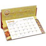 Custom 5600 Rite-A-Date Full Color Desk Calendar, Red Backer