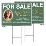 Custom Promote.Restaurant Coroplast Yard Sign, 2-sided