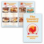 Custom Promote.Restaurant Full Color Bi-fold Menu, Small