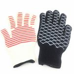 Custom Barbecue Heat-resistant glove in piece with double sides silicone dispensing