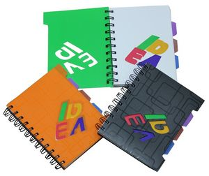 Hiqh Quality Recyclable Pp Cover Spiral Notebook With Colored Inside