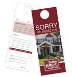 Custom Door Hanger w/ Business Card Slits (4 1/4