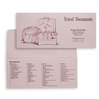 "Travel Documents Standard Folder w/ Luggage Image (10 1/4""x4 1/2"")"