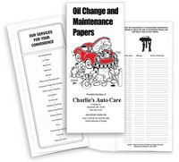 "Oil Change / Red Car Standard Design Document Folder (4 1/2""x10 1/4"")"