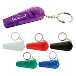 LED Whistle Keychain w/Flashlight