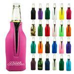 Custom Bottle Cooler w/Zipper (Screen Printed)