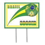 Plastic Yard Sign - Brasil