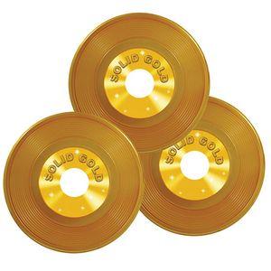 Custom Gold Plastic Records