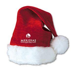 Custom Printed Velvet Santa Hats
