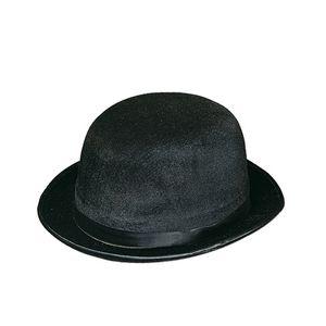 Custom Black Vel Felt Derby Hat