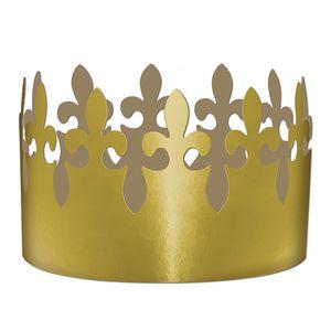Custom Gold Foil Fleur De Lis Crown