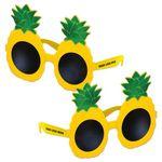 Pineapple Glasses w/A Custom Pad Print on Both Stems