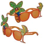 Palm Tree & Parrot Fanci-Frames w/ a Custom Pad Print on Both Stems