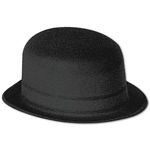 Custom Black Velour Derby Hat