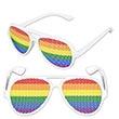 Rainbow Pinhole Glasses w/A Custom Pad Print On Both Stems
