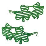Shamrock Shutter Glasses w/ a Custom Pad Print on Both Stems