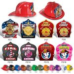 Custom Plastic Fire Hats w/ Stock Paper Shields