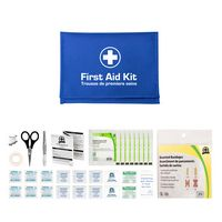 Glove Box First Aid Kit in Red Folding Case (42 Piece Set)