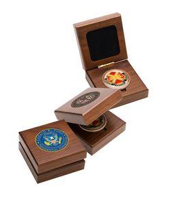 Solid Walnut Medallion Box (1 3/4
