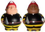 Custom Fireman Bert Squeezies Stress Reliever