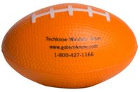Orange Football Squeezies® Stress Reliever