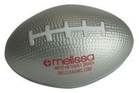 Silver Football Squeezies® Stress Reliever