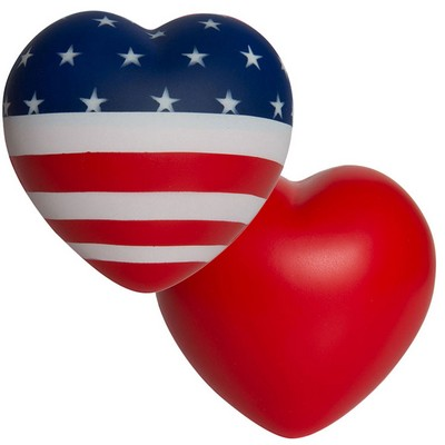 Flag Heart Piece Squeezies Stress Reliever