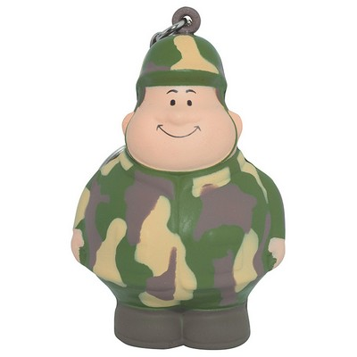 Army Bert Keyring Squeezies Stress Reliever