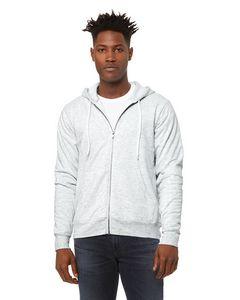 Custom Canvas Unisex Poly-Cotton Fleece Full-Zip Hoodie