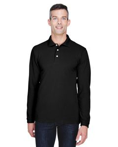 Custom Harriton Men's 5.6 oz. Easy Blend? Long-Sleeve Polo