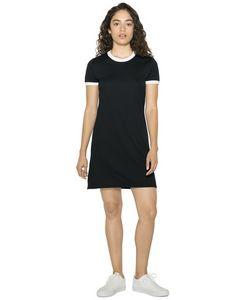Custom American Apparel Ladies' Poly-Cotton Ringer T-Shirt Dress