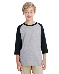 Custom Gildan Youth Heavy Cotton? 5.3 oz. 3/4-Raglan Sleeve T-Shirt