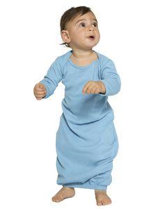 Custom American Apparel Infant Baby Rib Long Sleeve Gown T-Shirt