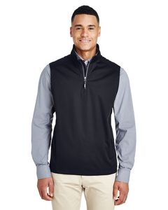 Custom CORE 365 Men's Techno Lite Three-Layer Knit Tech-Shell Quarter-Zip Vest