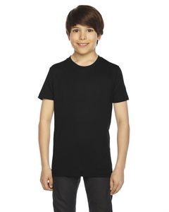 Custom American Apparel Youth Poly-Cotton Short-Sleeve Crewneck
