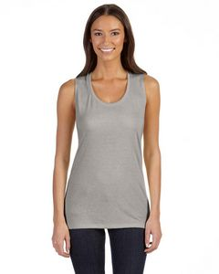 Color Image Apparel - Bella Ladies Flowy Scoop Muscle Tank