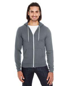 Custom American Apparel Unisex Flex Fleece USA Made Zip Hoodie