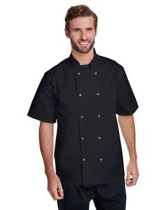 ARTISAN COLLECTION BY REPRIME Unisex Studded Front Short-Sleeve Chef