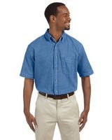 Harriton Men's 6.5 oz. Short-Sleeve Denim Shirt