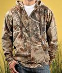 Custom CODE V Men's REALTREE Camo Zip Fleece Hoodie