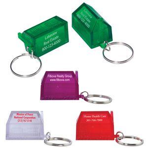 Custom Printed House Shaped Key Tags!