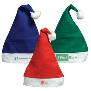 Customized Felt Santa Hats
