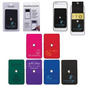 Cell Phone Card Holder >> Snap Cell Phone Card Holder W Packaging
